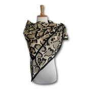 Leopard-printed pure polyester scarf