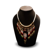 India statement necklace is beaded, colorful