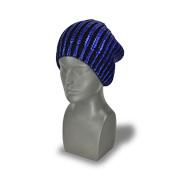 Hot-stamped pure acrylic men's knitted hat