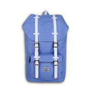 Light blue melange laptop backpack