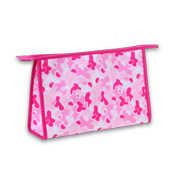 Pink camouflage cosmetic bag