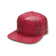 Crocodileskin PU leather urban fashion cap