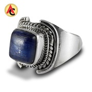 Kyanite-adorned sterling silver ring