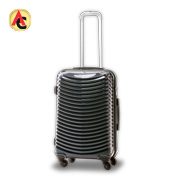 Luggage has lightweight aluminum trolley