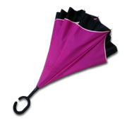 Inverted umbrella with C-shaped handle