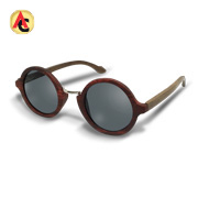 Sunglasses have handmade bamboo frame