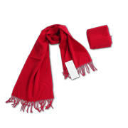 100% wool scarf adorned with tassels