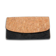 Clutch bag made of reusable cork