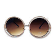 Sunglasses with double-layer brass frame