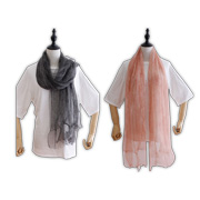 Women's chiffon scarf uses 100% silk
