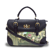 Women's handbag with oil painting-like design