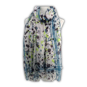 Chiffon scarf features allover print