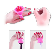 Two-finger silicone nail polish holder