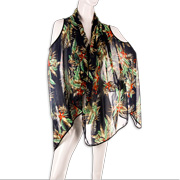 Gallery View: Prints, trimmings raise polyester shawl visual appeal