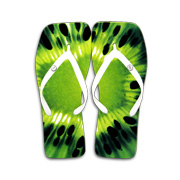 Digital-printed square-toe men's flip-flops