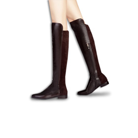 Genuine leather over-the-knee women's boots