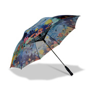 Heat transfer-printed manual umbrella