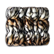 Snood scarf has printed tiger stripes
