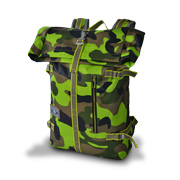 Water-resistant camouflage daypack