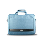 Laptop bag has adjustable compartments