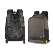 Laptop backpack with air vents, cooling fan