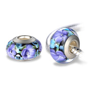 Floral glass bead is hypoallergenic