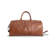 Crossbody duffel bag in PU leather