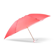 Folding umbrella has water-repellent canopy