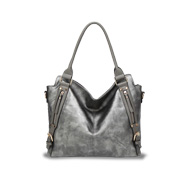 PU leather handbag is wax-, oil-polished