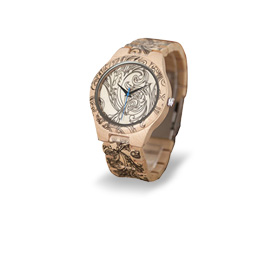 Wooden watch uses pine