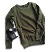 Heated pullover uses high-tech carbon fiber