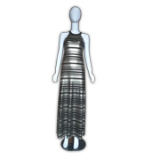 Shift dress features glittering stripes