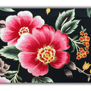 Floral-printed woven cotton fabric