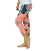 Seamless, anti-pilling tie-dyed yoga pants
