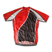 Cycling jersey with elastic silicone hem