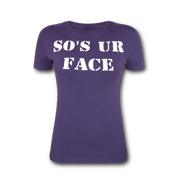 Pure nylon women's T-shirt in playful design