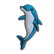 Cute dolphin cotton embroidered patch