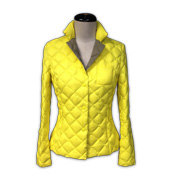 Slim-fit polyester women's down jacket