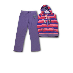 Girl's tracksuit with handwarmer pockets