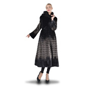 Mink fur women's coat made by hand