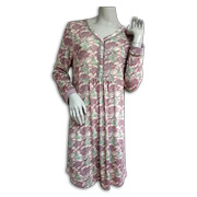 Women's sleepwear with lace, button accents