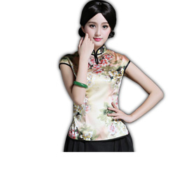 Traditional China blouse uses mulberry silk