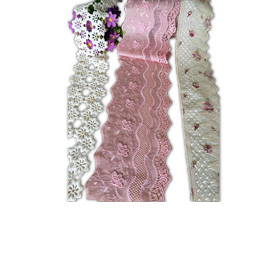 Embroidered lace trim for women's apparel