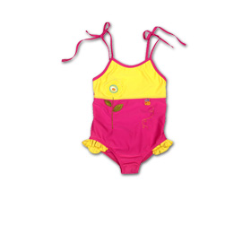 Girl's monokini trimmed with ruffles