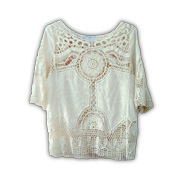 Women's blouse with lace embroidery