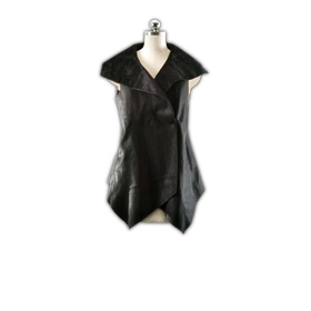 Cropped suede women's vest