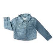 Girl's casual jacket with mesh shell