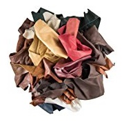 Abe Leather Upholstery Leather Scrap, Genuine Snakeskin, 2 Pounds, 3 Pieces
