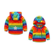 Kid's raincoat with reflective star patches