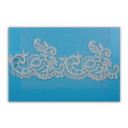 Embroidered lace trim in pure rayon